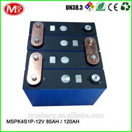 中国 12V 85Ah 120Ah rechargeable LiFePO4 battery pack for solar EV solar power and UPS 代理店