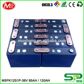 中国 High capacity lifePo4 battery MSPK12S1P LiFePO4 battery pack 36V 85AH 120AH For backup power 工場